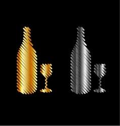 Branding identity corporate beverage logo in gold vector