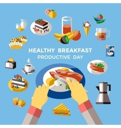Breakfast Colored Composition vector image