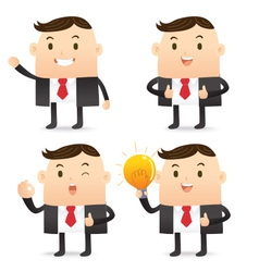 Business Character Bulb vector image vector image