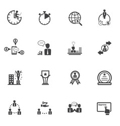 business people and finance icons with texture vector image