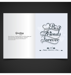 Card of best friends forever vector