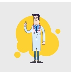 Character of happy doctor in medical vector