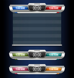 Creative digital scoreboard vector