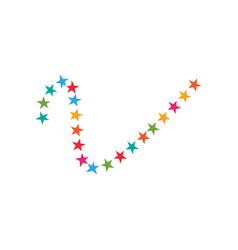 decorative star icon graphic design template vector image