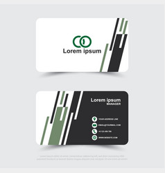 design of modern business name card template vector image