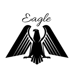Eagle black heraldic gothic icon vector image