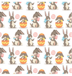 easter rabbit holiday bunny rabbit and vector image