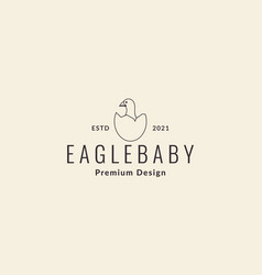 Egg with eagle baby logo symbol icon graphic vector