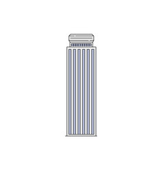 famous skyscraper or tourists landmark icon vector image