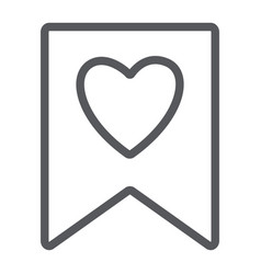 favourite line icon mark and favorite bookmark vector image