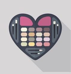 Flat heart eyeshadow palette vector
