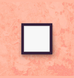 frame hanging on wall realistic mockup vector image