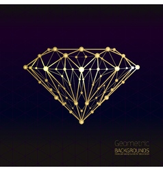Geometrical shape of the gold diamond lattice of vector image