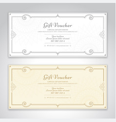 gift certificate voucher gift card or cash vector image
