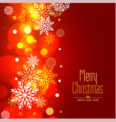 glowing merry christmas snowflakes holiday vector image