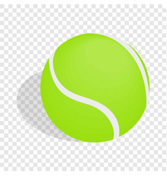 green tennis ball isometric icon vector image