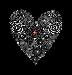 greeting lovely background with a heart vector image