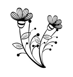 hand-drawn flowers design vector image