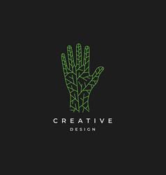Hand logo design inspiration vector