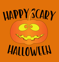 Happy scary halloween greeting card vector