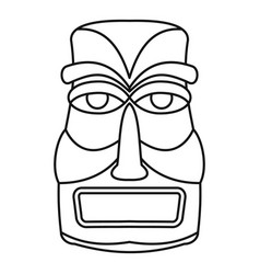Hawaii idol statue icon outline style vector