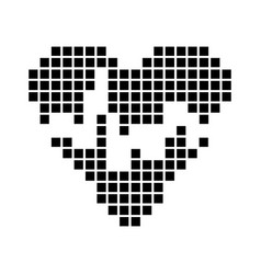 Heart of black squares vector