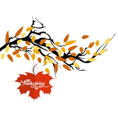 Hello autumn autumn landscape with autumn leaves vector