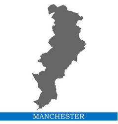 High quality map ofcity in united kingdom vector