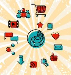 Internet Communication Icons Set vector