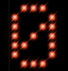 led digits 0 vector image