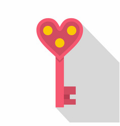 love key icon flat style vector image