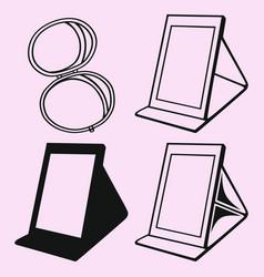 makeup mirror table mirror vector image