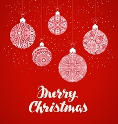 Merry Christmas Xmas balls in decorative style vector image