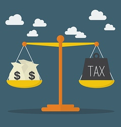 Money and Tax balance on the scale vector