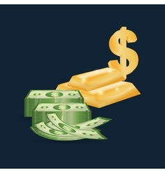 Money business financial vector image