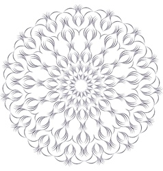 monochrome contour mandala vector image