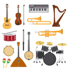 Musical instruments music concert vector