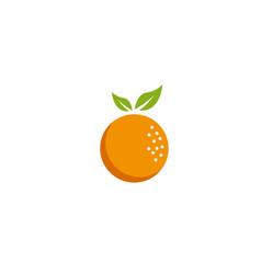 orange fruit and pulp logodesign vector image