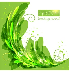 Oval frame with green leaves vector image