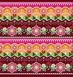 Pakistani truck art seamless pattern vector