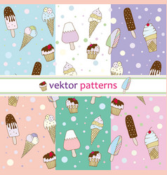 Patterns ice cream vector