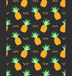 pineapples tropical seamless pattern vector image