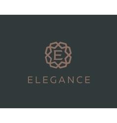 Premium letter e logo icon design luxury vector