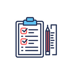 project briefing - modern line design icon vector image