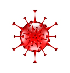 Red bacteria isolated on white vector