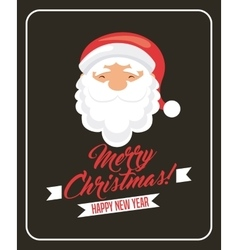 santa cartoon icon Merry Christmas design vector image