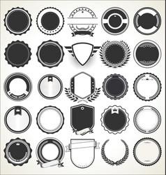 set blank retro vintage badges 5 vector image