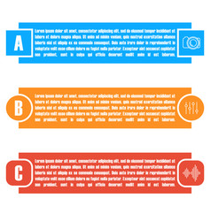 Set of bright rectangular elements infographic vector