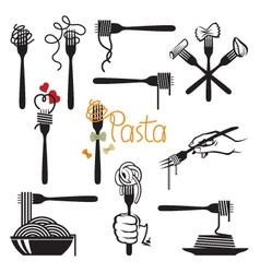 Set pasta elements vector