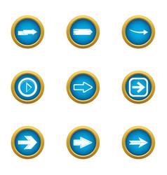 shunter icons set flat style vector image